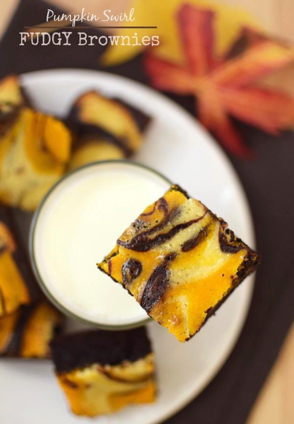 Pumpkin Swirl Fudgy Brownies