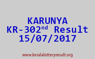 KARUNYA Lottery KR 302 Results 15-7-2017