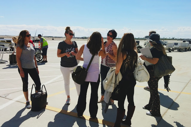 Bloggers at Yuma Airport for Natural Delights Blogger Summit 2015