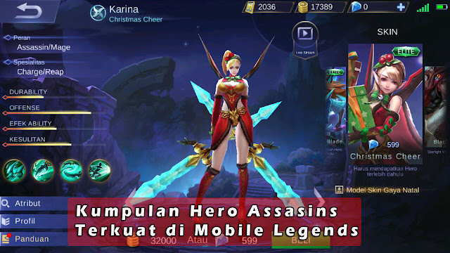 Kumpulan Hero Assasins Terkuat di Mobile Legends