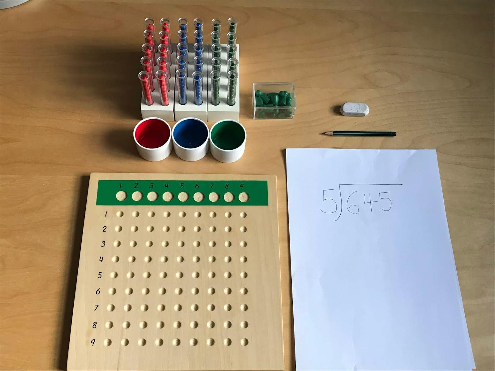 Family Fecs Montessori Activity Long Division With Racks Test