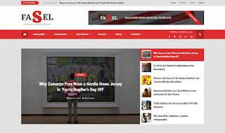 Fasel news magazine blogger responsive template