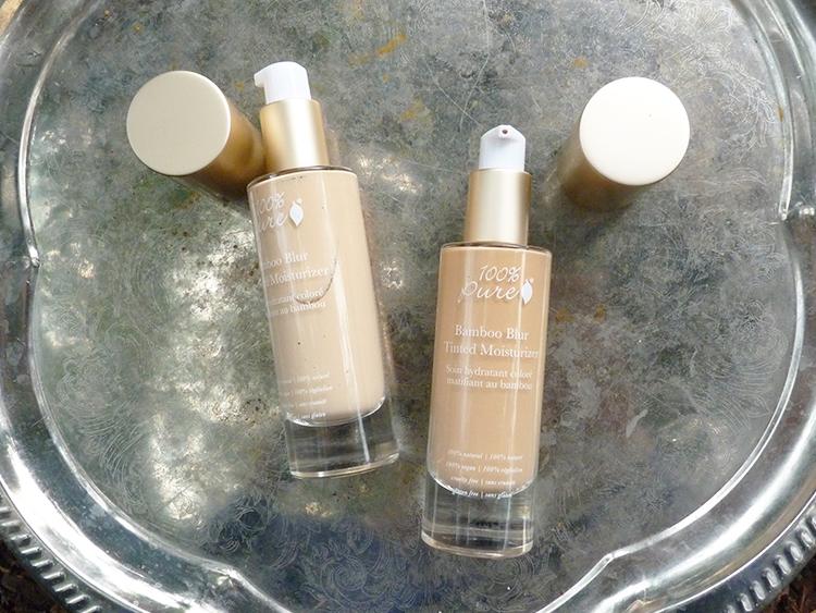 100% Pure Bamboo Blur Tinted Moisturizer White Peach und Peach Bisque