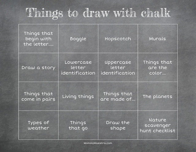 Things to draw with chalk