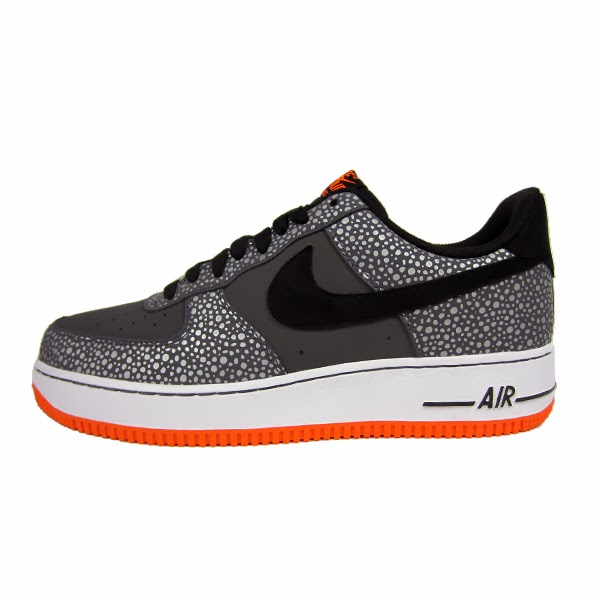 quality design e23dd 986cc Nike Air Force 1 Safari. Dark Grey, Black, Total Orange. 488298-079