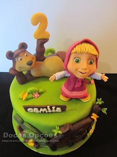 bolo parabéns Masha e o Urso bragança
