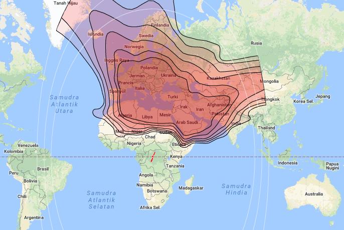 Channel List and Spot Beam Satellite Eutelsat 21B 21 5°E KU