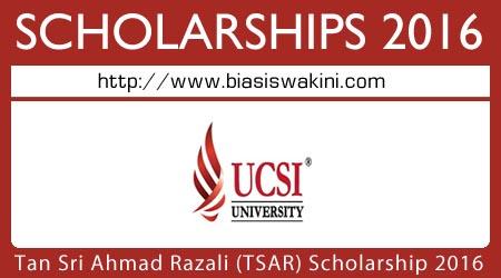 Biasiswa Tan Sri Ahmad Razali (TSAR) Scholarship 2016