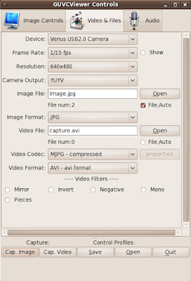 Ubuntuland & The Dream Planet: GUVCViewer is a simple GTK