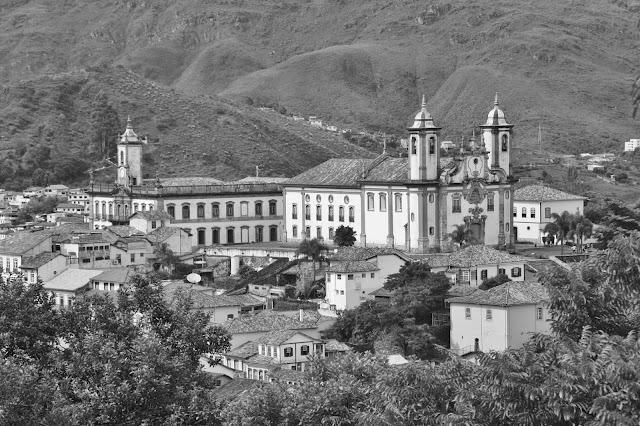 Ouro Preto vista do adro da Igreja São Francisco de Paula