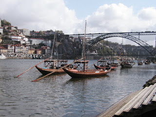 Boats on the Douro river