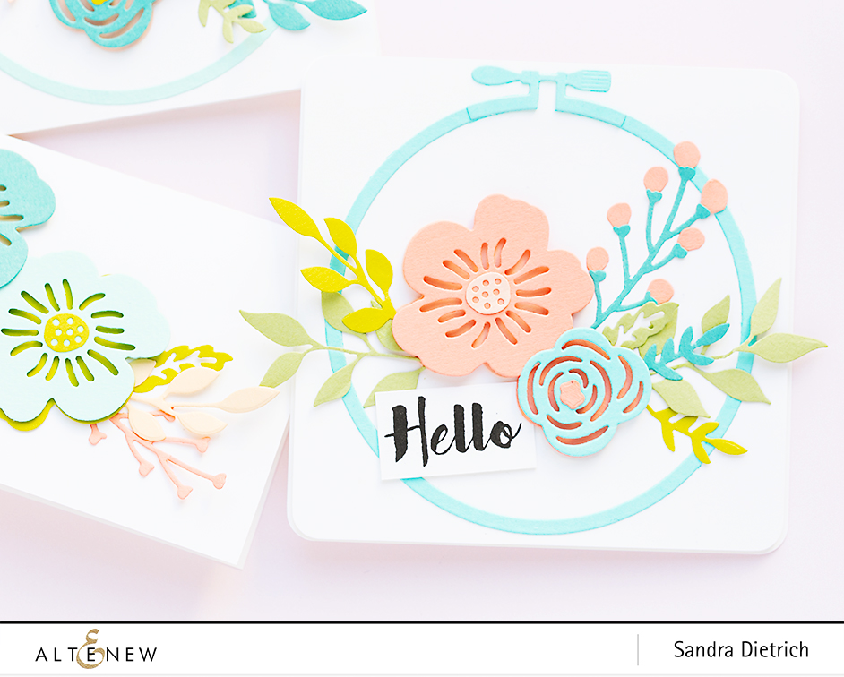 Altenew | Spring Cardmaking | Layered Floral Elements Die | Hello Card