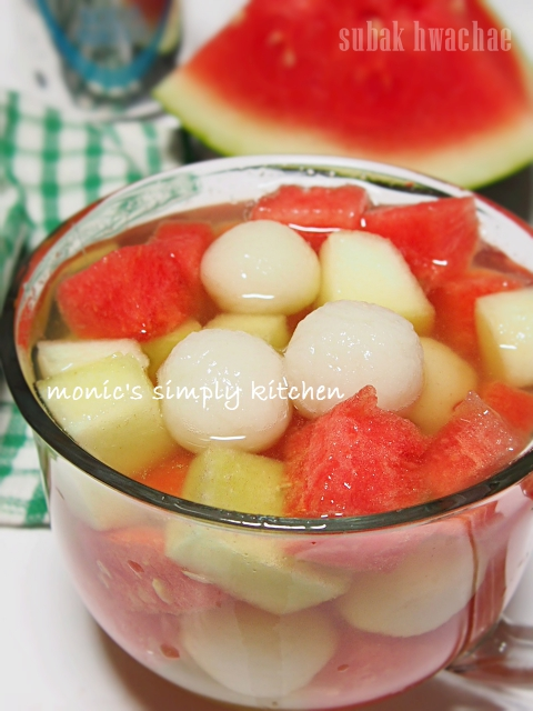 resep subak hwachae korean watermelon punch