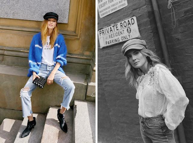 Девушка в фуражке и в джинсах