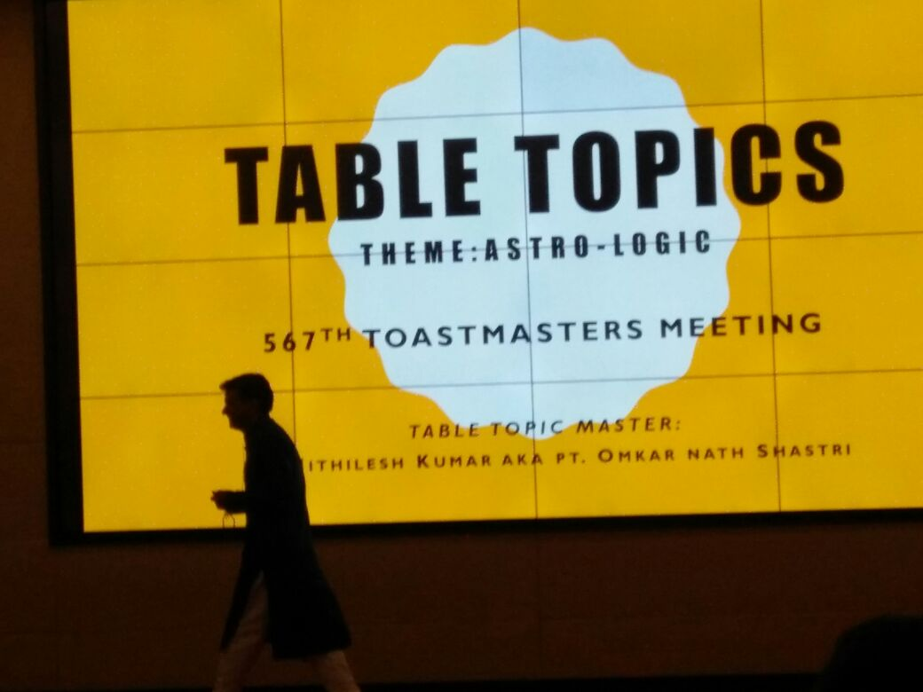 My Toastmasters Role Script Table Topics Master