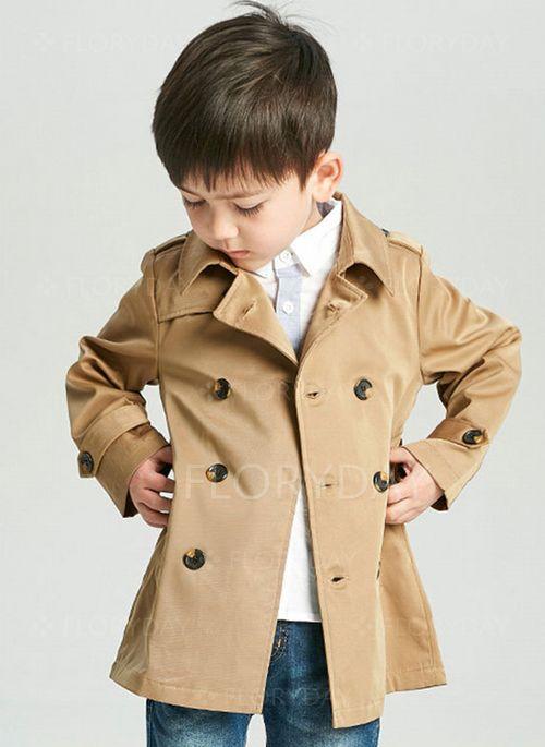 Boys' Basic Solid Lapel Coats
