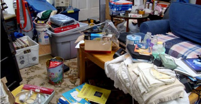 A messy house can cause a nervous breakdown