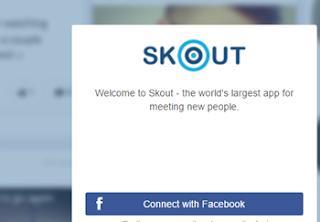 Usar SKOUT en Facebook