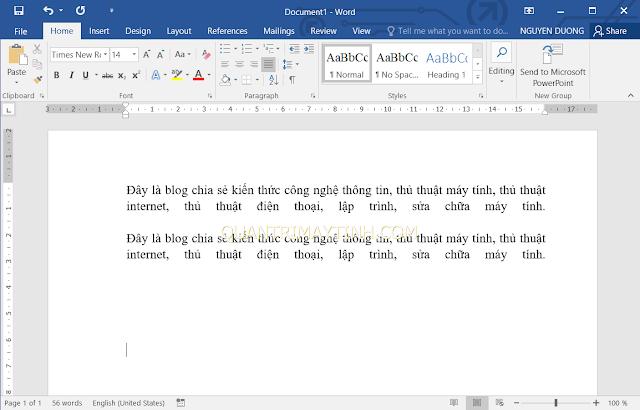 cách sửa lỗi giãn dòng, chữ bị cách xa khi căn lề đều 2 bên trong Word