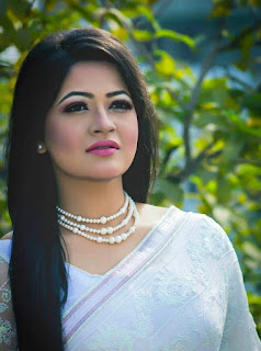 Azmeri Haque Badhon In White Saree