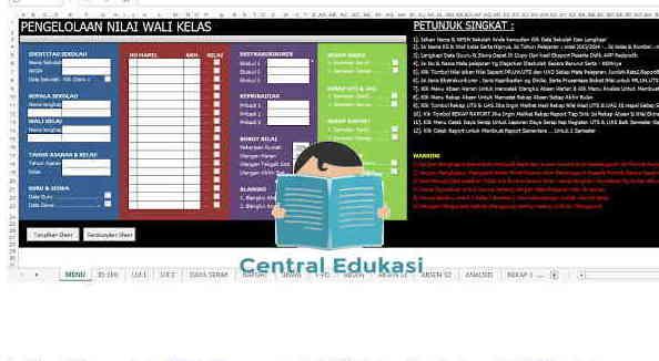 Download Aplikasi Mengelola Nilai Siswa untuk Wali Kelas Kurikulum 2013 Revisi Lengkap Format Excel