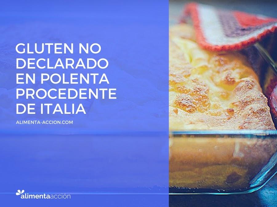 alerta alimentaria, alergia, gluten, Italia, polenta