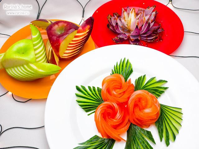 Украшение блюд для праздничного стола