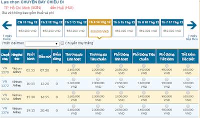 Vé máy bay giá  rẻ đi Huế Tháng 12