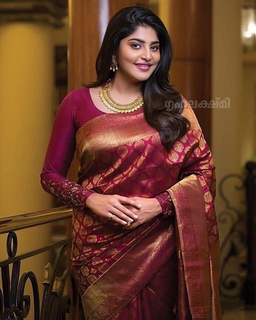 Full Sleeves blouse on Kanjeevaram Saree