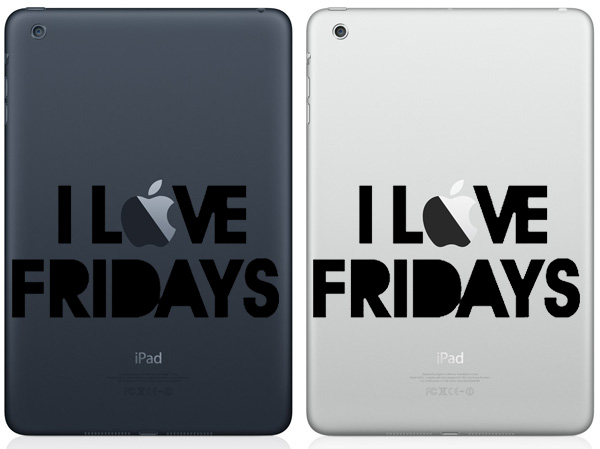I Love Friday iPad Mini Decals