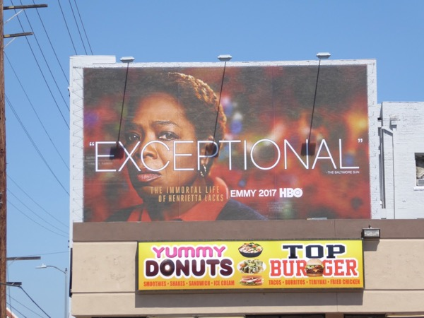 Henrietta Lacks Exceptional Emmy billboard