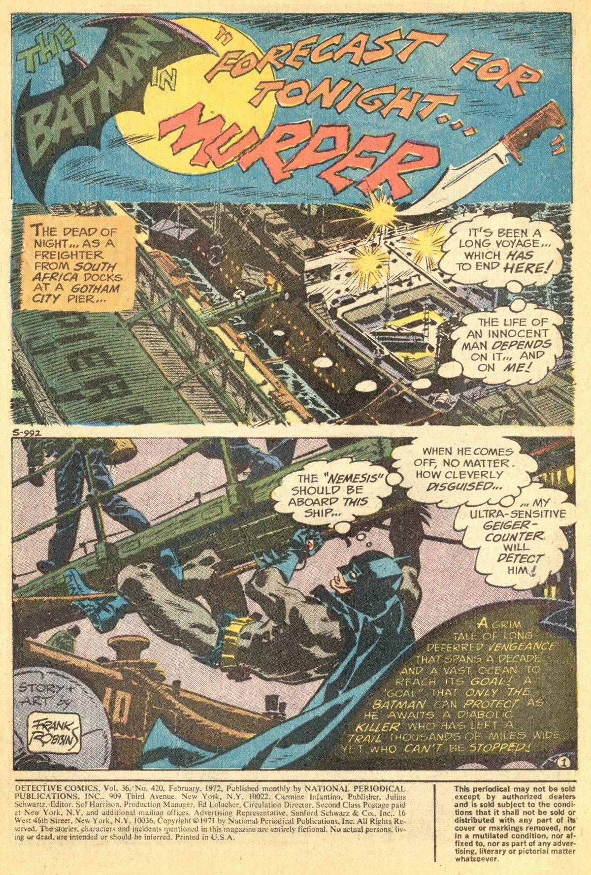 Detective Comics (1937) 420 Page 2