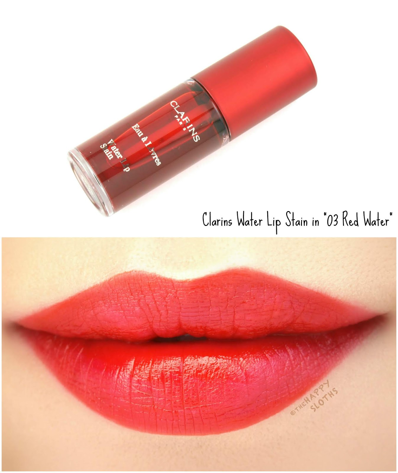 "Clarins | Water Lip Stain in ""03 Red Water"": Review and Swatches"