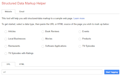 google data markup tool for bloggers