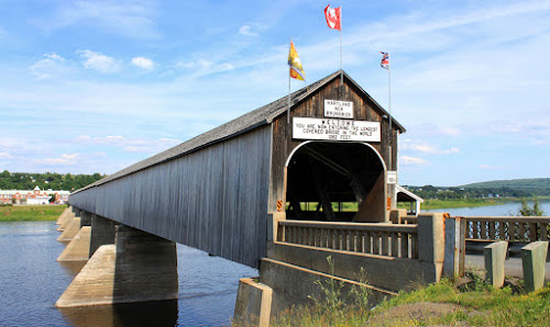 New Brunswick longest wooden covered bridge