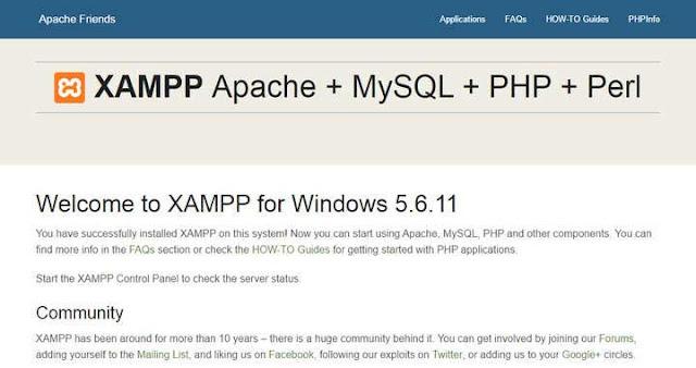 Xampp on localhost