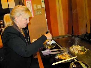 Pat Dunlap Okonomiyaki Japanese Pancakes Kyoto Japan Food