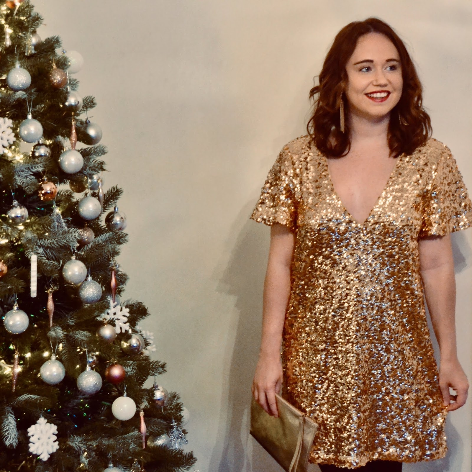 49f77c89bf17d Wearing a Sequin Dress to the Christmas Party - Call Me Liz