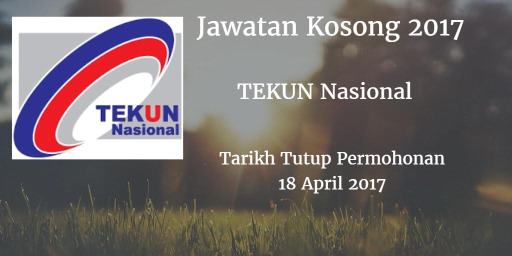 Jawatan Kosong TEKUN Nasional 18 April 2017