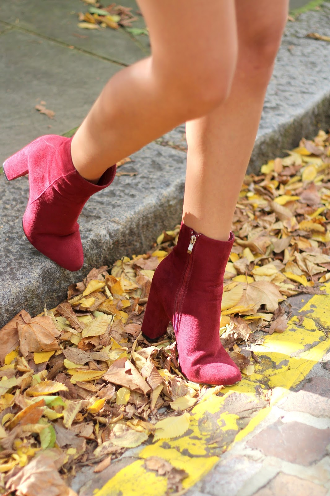 burgundy ankle boots peexo autumn style