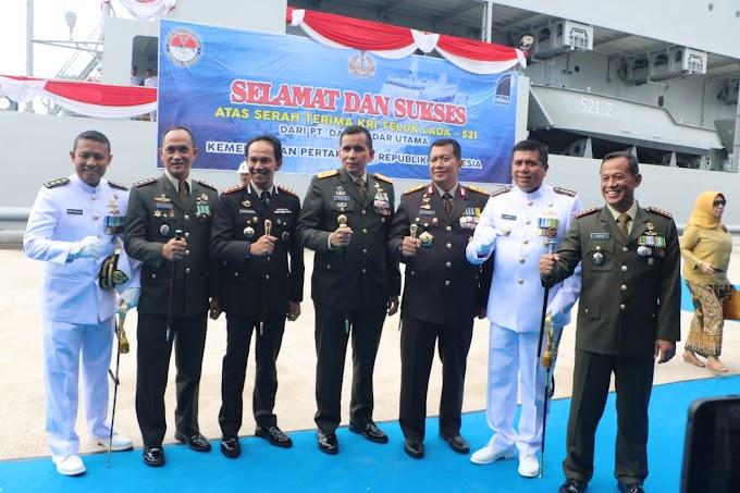 Kapolda Lampung Hadiri Serah Terima Kapal KRI Teluk Lada