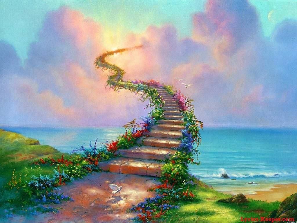 Escada Para o Céu - Jim Warren pinta sonhos e ilusões de maneira fantástica.