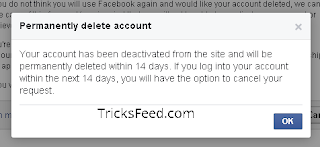 confirm profile deletion