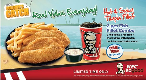 What a kfc seafood menu might look like brand eating for All you can eat fish and chips near me