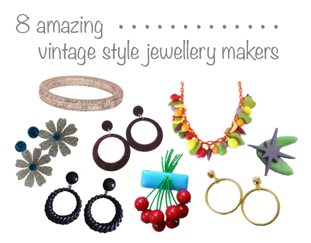 8 of the best vintage retro style indie jewelry jewellery makers 40s 50s 60s