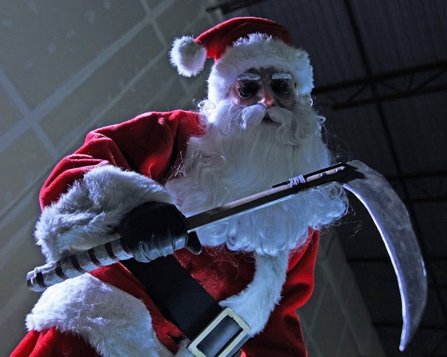 Santa Claus as the Grim Reaper from the slasher movie Silent Night, Deadly Night