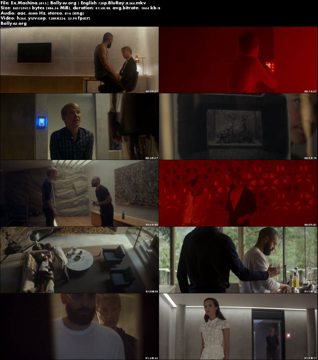 Ex Machina 2015 BluRay 800MB English Movie 720p Download