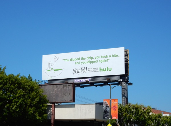Seinfeld Hulu chips dip billboard