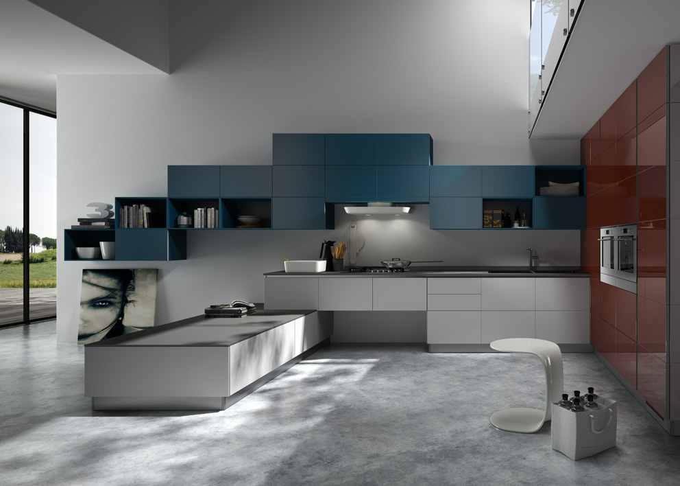 kitchen hardware square island and residential design: sensational scavolini
