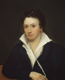 Percy Bysshe Shelley by Alfred Clint, 1819